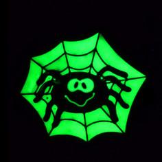 Déco Phospho Adhésive Araignée
