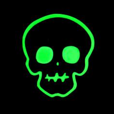Deco Phospho Adhesive Skull