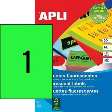 Etiquettes A4 Fluo