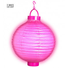 Lampion Led Rose Fluo