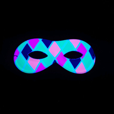 Masque Loup Arlequin Fluo