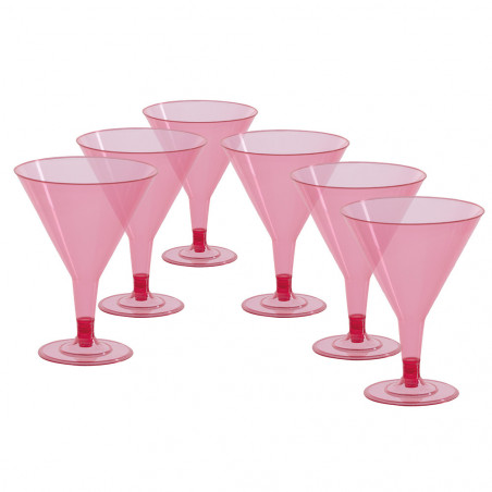 Verre à Cocktail Rose Fluo - Lot de 6