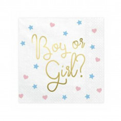 Serviettes Gender Reveal - Lot de 20