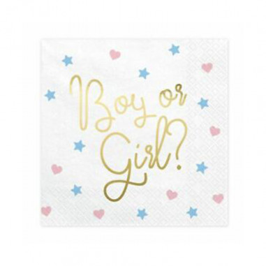 "Serviettes en Papier ""Boy or Girl"""