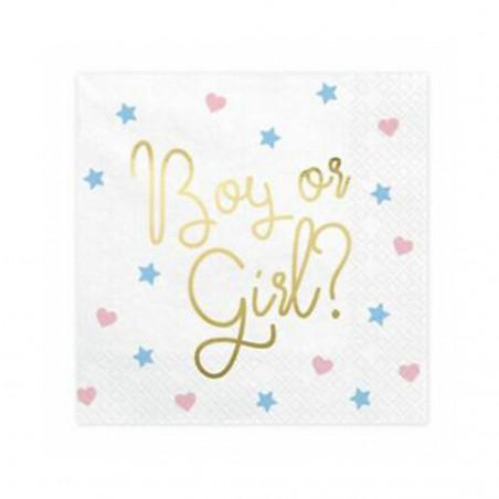 "Serviettes en Papier ""Boy or Girl"""