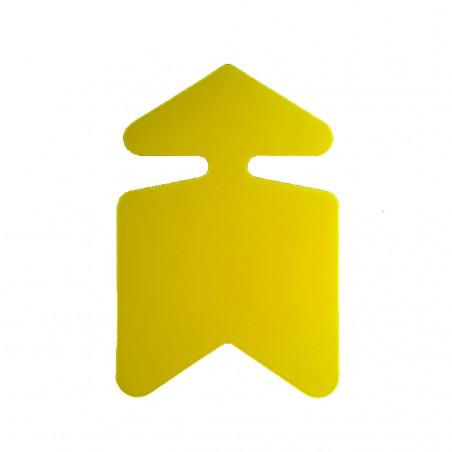Flèche Jaune Fluo - Lot de 10