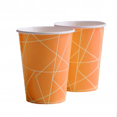 Gobelet Orange Fluo - Lot de 8