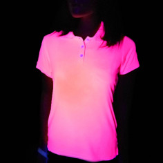 Polo Fluo Rose Femme