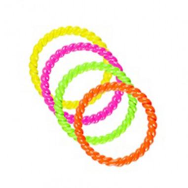 Set 4 ringe neon