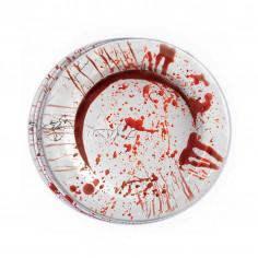 Teller Blut im Karton - Lot von 8