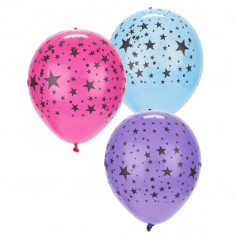 Ballons LED Etoiles - Lot de 5