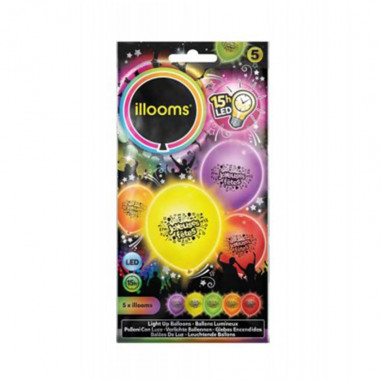 """Ballons-LED """"Frohe Festtage"""" - 5er-pack"""