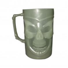 Verre à Bière Phosphorescent Tête de Mort