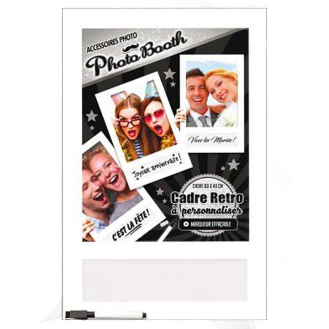 Cadre Photobooth Soirée Blanche