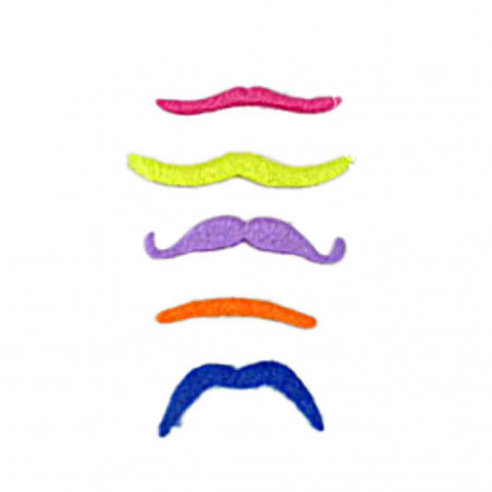 Moustaches Fluo - Lot de 5