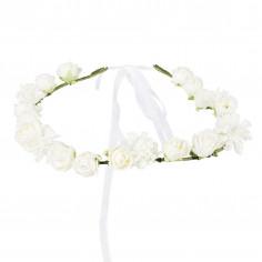 Kranz der weißen Blumen