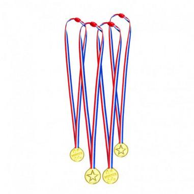 Set 4 Médailles dorées