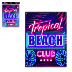 Plaque décorative Tropical Beach Club