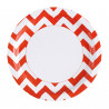 Assiettes Chevron - Lot de 8