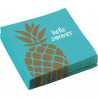Serviettes Ananas Hello Summer - Lot de 20