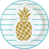 Assiette Ananas - Lot de 8
