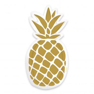 Petite Assiette Forme Ananas - Lot de 6