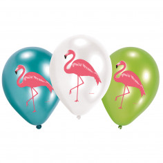 Ballon Flamant Rose - Lot de 6