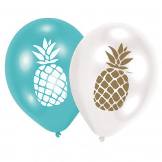 Ballon Ananas - Lot de 6