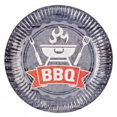 Assiettes BBQ Party - Lot de 8