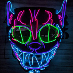 Masque Led Crazy Cat