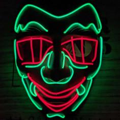 Maske Led-Vampir
