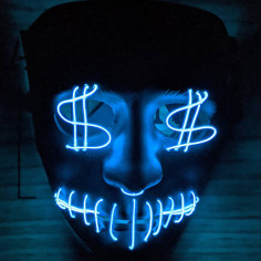 Led Dollars Maske