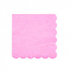 Serviette Rose en Papier Luxy - Lot de 20