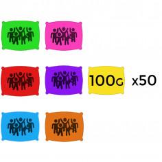 Poudre en 100 g - Lot de 50 Sachets