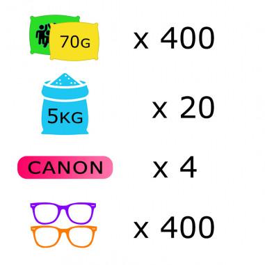 Pack Course Colorée - 400 personnes