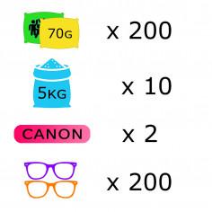 Pack Course Colorée - 200 personnes