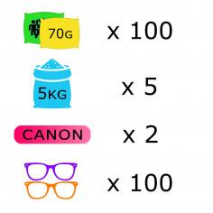 Pack Course Colorée - 100 personnes