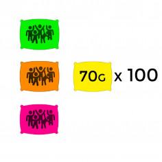 Sachet de Poudre Fluo 70 g - Lot de 100