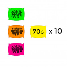 Sachet de Poudre Fluo 70 g - Lot de 10