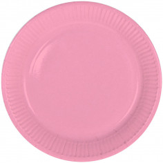 Assiette rose - Lot de 8