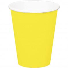 Gobelet jaune - Lot de 8