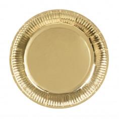 Assiette dorée - Lot de 6