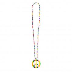 Mehrfarbige Hippie-Halskette