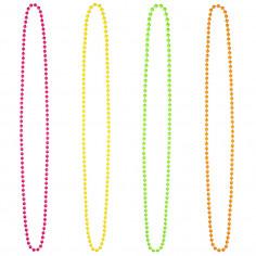 3er-pack Halsketten Perlen Fluo