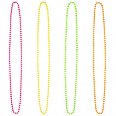 Collier en Perles Fluo - Lot de 4