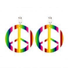 Mehrfarbiger Hippie-Ohrring