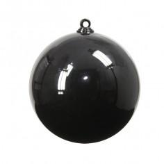 Boule de Noël Noire - 8 cm