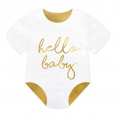 Serviette Hello Baby - Lot de 20