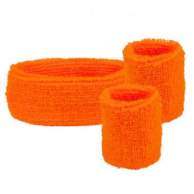 Set-Stirnband & Manschetten-Schwamm Fluo