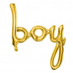 Ballon Aluminium Boy Doré